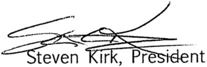 Steven Kirk, President